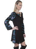 [Honey Creek by Scully Embroidered Long Sleeve Dress]