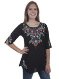 [Honey Creek by Scully Floral Embroidered Tunic]