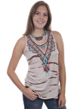 [Honey Creek by Scully Embroidered Tank with Stone Embellishments]
