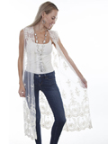[Honey Creek by Scully Lace Duster Vest]
