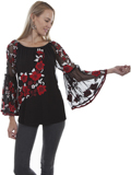 [Honey Creek by Scully Floral Embroidered Mesh Top]