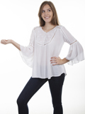 [Honey Creek by Scully Hi/Lo Lace Crochet Blouse]