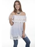 [Honey Creek by Scully Crochet Lace Peasant Blouse]