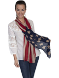 [Honey Creek by Scully Ladies Flag Scarf]