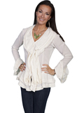 [Honey Creek by Scully Ladies Peruvian Cotton Ruffed Blouse]
