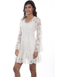 [Honey Creek by Scully Flare Sleeve Lace Dress]