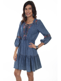 [Honey Creek by Scully Denim Embroidered Dress]