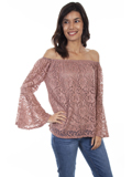 [Honey Creek by Scully Bell Sleeve Lace Top]