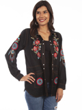 [Honey Creek by Scully Embroidered Overshirt]