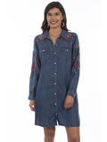 [Honey Creek by Scully Embroidered Denim Dress]