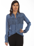 [Honey Creek by Scully Fringe Button Front Blouse]