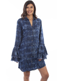 [Honey Creek by Scully Double Ruffle Sleeve Plaid Dress ]