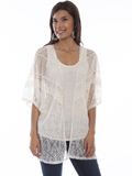 [Honey Creek by Scully Lace Cardigan with Jersey Tank]