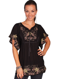 [Honey Creek by Scully Ladies Embroidered Viscose Tunic]
