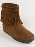 [Minnetonka Women's High Top Back Zip Suede Boot]