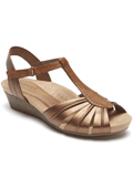 [Cobb Hill by Rockport Hollywood Pleated T-Strap Sandal]