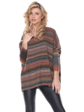 [Sisters Sweater Company Women's Autumn Stripe Sweater]