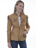 [Scully  Ladies Lamb Suede Beaded Fringe Jacket]