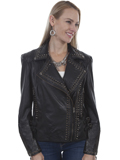 [Scully  Ladies Lamb Leather Grommet and Stud Jacket]