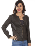 [Scully  Ladies Lamb Leather Elasticized Jacket]