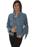 [Scully  Ladies Boar Suede Fringe Jacket]