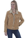 [Scully  Ladies Boar Suede Faux Shearling Jean Jacket]