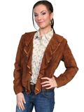 [Scully Ladies Ladies Ruffle Boat Suede Jacket]