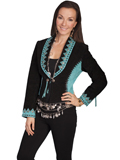 [Scully Ladies - Ladies Bolero Boar Suede Studded Jacket]