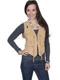 [Scully Ladies Ladies Beaded Boar Suede Vest]
