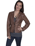 [Scully  Ladies Buffed Lamb Leather Whip Stitch Jacket]