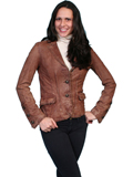 [Scully Ladies Ladies Distressed Washed Lamb Jacket]