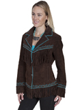 [Scully  Ladies Boar Suede Embroidered Jacket]