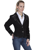 [Scully  Ladies Boar Suede Bootstitch Jacket]