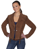 [Scully  Ladies Boar Suede Fringe and Ruffle Jacket]