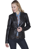 [Scully Ladies Ladies Lamb Leather Blazer]
