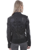 [Scully  Ladies Lamb Leather Beaded and Fringe Jacket]