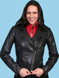 [Scully Ladies Ladies Classic Motorcycle Jacket]