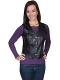 [Scully Ladies Ladies Soft Touch Lamb Western Leather Vest]