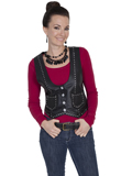 [Scully Ladies Ladies Premium Lamb Studded Vest]