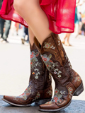 [Old Gringo� Women's Bonnie Floral and Arrow Vintage Leather Western Boots]