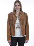 [Scully  Ladies Boar Suede Hand Laced and Bead Trim Jacket]