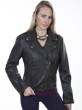 [Scully  Ladies Lamb Concealed Carry Motorcycle Jacket]