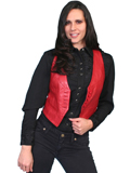 [Scully Ladies Ladies Hand Finished Lambskin Leather Vest]
