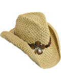 [Dorfman Pacific� Women's Wood Flower Crochet Toyo Hat]