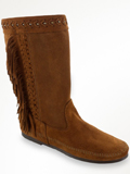 [Minnetonka Women's Luna Soft Suede Fringe Boot]
