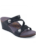 [Aetrex Lydia Adjustable Wedge Sandal]