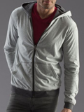 [Mod-O-Doc Men's Sueded Jersey Reversible Zip Hoodie]