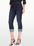 [Not Your Daughter's Jeans� Dayla Premium Lightweight Denim Wide Cuff Capri]