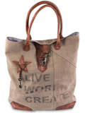 [Mona B. Live Work Create Canvas Tote Bag]