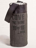 [Mona B. Love the Wine You Are With Wine Bag]